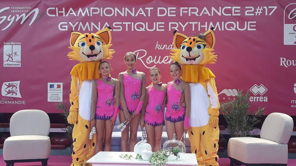 Evana, Lucile, Chloé, Aurélia (TFA minimes)