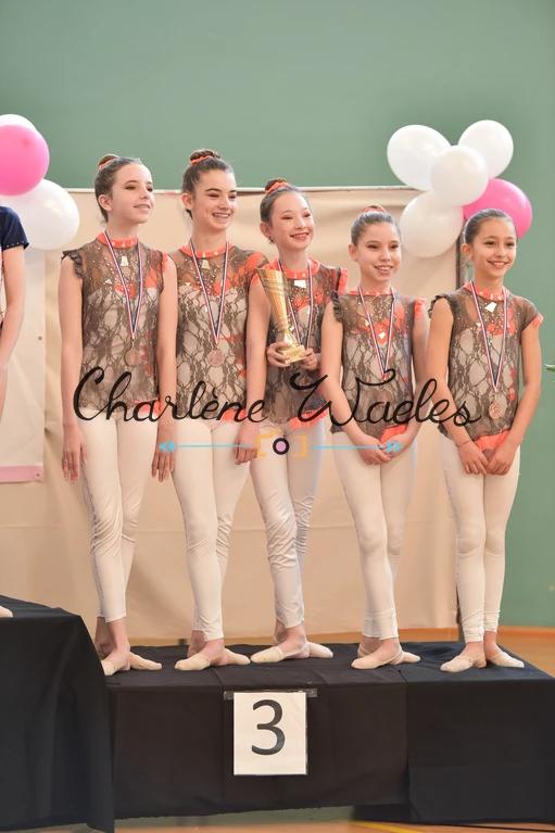 Lara, Carla, Léna, Beatriz, Lilou (Fédéral B minimes) 3èmes