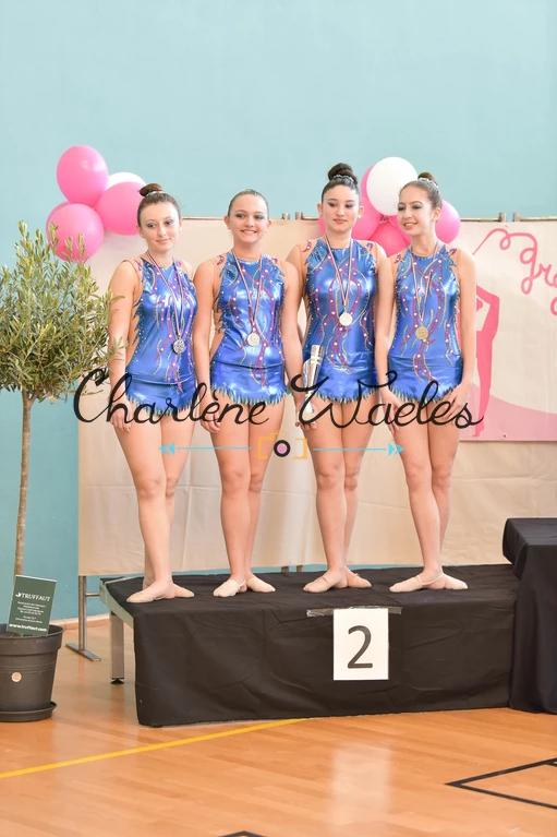 Victoire, Emma, Shanna, Amandine (Fédéral B toutes catégories) 2èmes