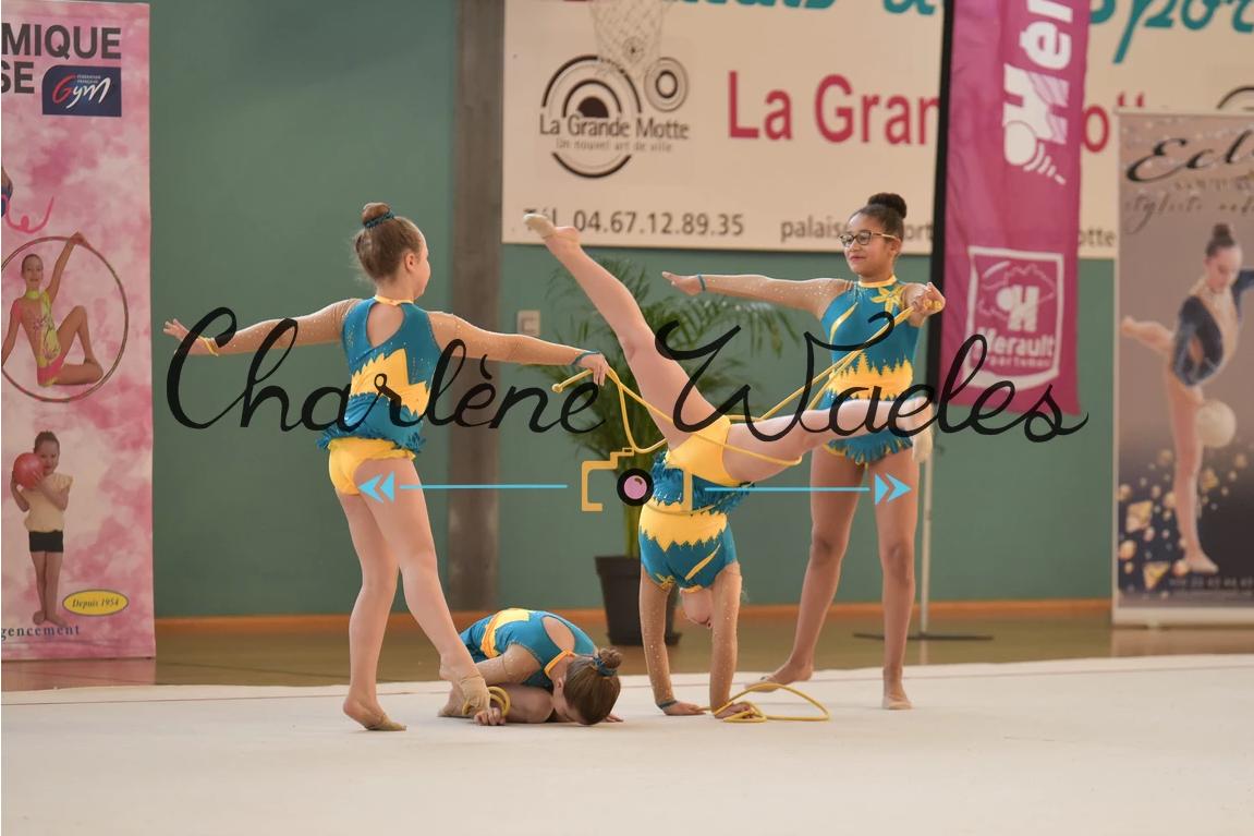Léa, Anna, Maëlys, Lily (Régional benjamines) 1ères