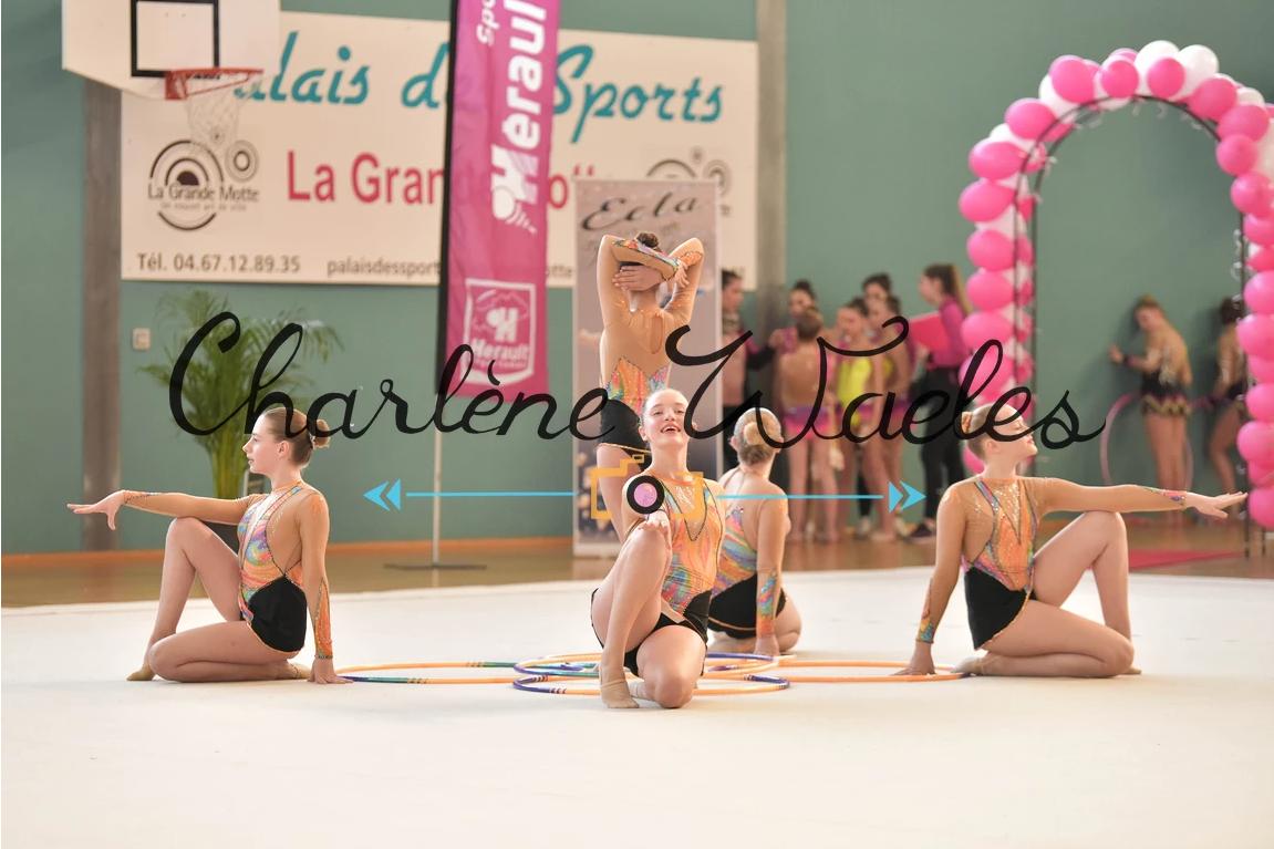 Jeanne, Lola, Jade, Estelle, Chloé (Régional minimes) 5e