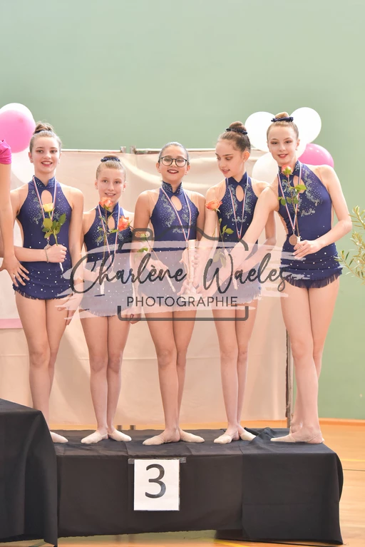 Margot, Coralie, Lina, Charlotte, Amélie (Fédéral A minimes) 3èmes